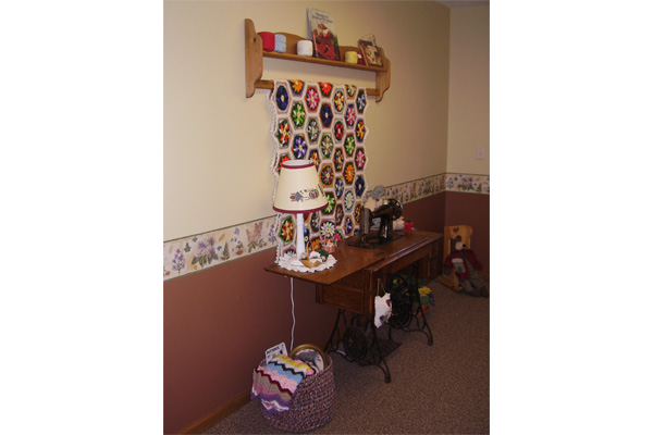 Sewing nook at Riverside